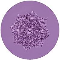 Preisvergleich für GXQ Runde Yoga-Matte Umweltfreundliche Rutschfeste Naturkautschuk Meditation gedruckt Bodenmatte Teppich Meditation Matte Mehrzweck-Haushalt Outdoor-Kissen Multicolor (Farbe : Purple)