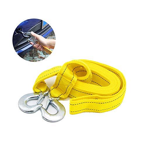 JUNHAO Abschleppseil Recovery Trailer Belt 4T / 4M Anti-Off-Haken-Typ Doppeltuch Nylon Seil Anhänger mit Zugseil