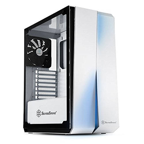 SilverStone SST-RL07W-G - Red Line Midi Tower ATX Gaming Computer Case, Silent High Airflow Performance,  Full Tempered Glass, white Best Price and Cheapest