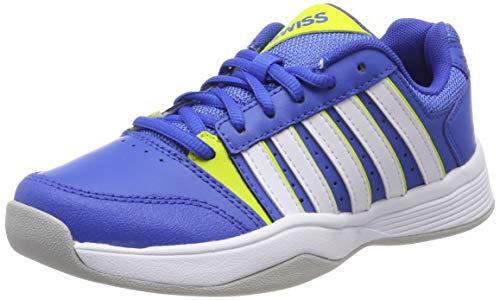 K-Swiss Performance Jungen Court Smash Carpet-STRNGBLU/NENCTRN/WT-M Tennisschuhe, Blau, 3 000070589, 35.5 EU