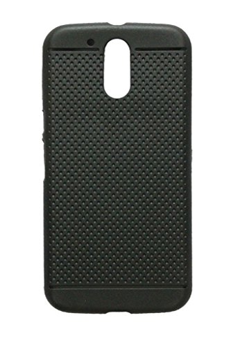Generic Exclusive Dotted Matte Finish Soft Back Case Cover Back Cover For Motorola Moto G4 Plus / G Plus (4th Generation ) - Black
