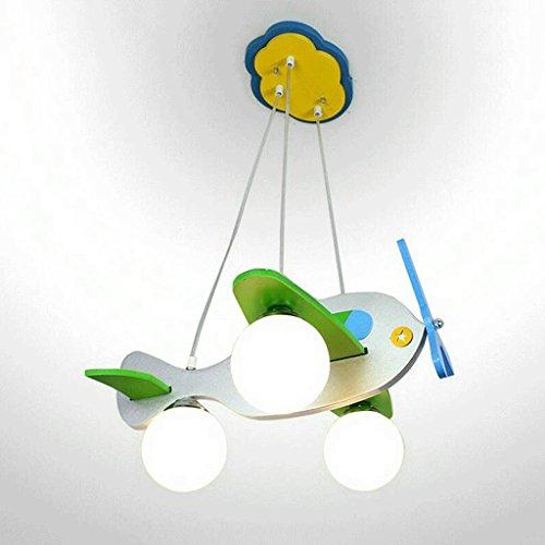 delicato-c-di-legno-solido-vetro-e27-3-no-light-argento-rossa-e-blu-di-un-aereo-shape-50-cm-51-cm-da
