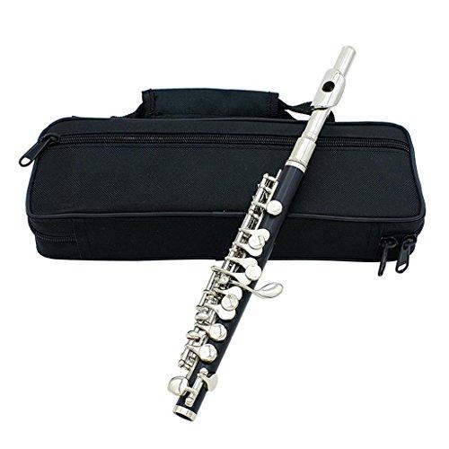 Sharplace Profi C-Key Piccoloflöte/ Piccolo Flöte Set, mit Koffer und Zubehör - Silber
