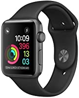 Apple Watch - Series 2 - (42mm, Space Gray Aluminum Case/Black Sport Band) (Generalüberholt)