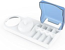 Portaspazzolino per spazzolini elettrici. Base di sostegno Poketech per spazzolini elettrici Oral-B, porta-spazzolino: 1 manipolo, 4 testine e caricatore