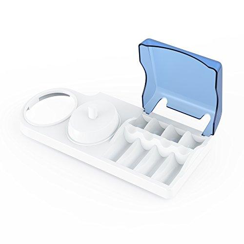 Zahnbürstenhalter für Oral-B Elektrozahnbürsten Poketech Oral B Ständer für 4 Aufsteckbürsten, Ladegerät & Elektrische Zahnbürsten