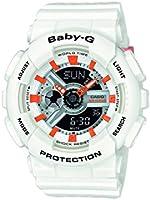 Casio Baby-G - Damen-Armbanduhr mit Analog/Digital-Display und Resin-Armband - BA-110PP-7A2ER