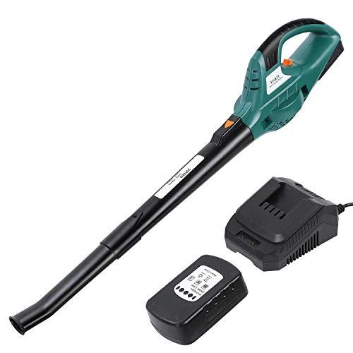 FIXKIT Aspiratore Foglie Soffiatore 20 V, 2.0Ah Batteria, 13000/9000 RPM velocità Variabile, Carica Rapida 1 Ora