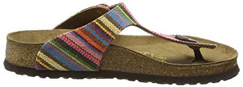 Papillio Damen Gizeh Textil/Leder Zehentrenner Mehrfarbig (Bohemian Stripes Pink)