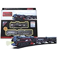 Train Set with Fun, Interactive, Ready to Play Holiday Model Battery Operated Engine 13 Pieces Train Set