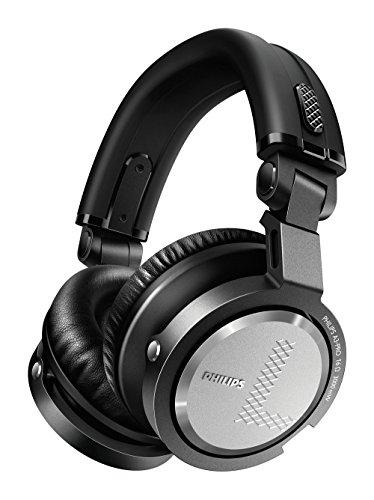 Philips A3PRO - Auriculares tipo DJ, Plegables (circumaural, diadema, 3000 mW, alámbrico, metálico, 19,5 cm) color negro