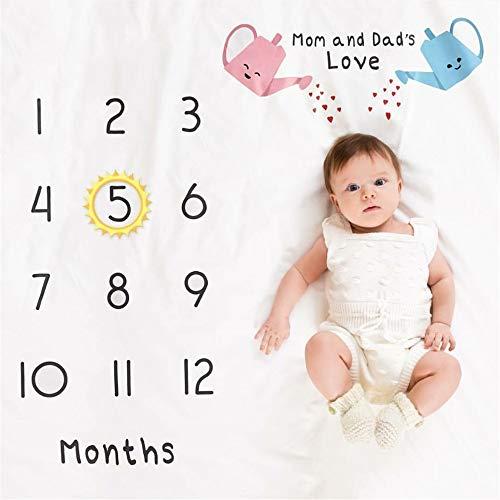 Baby Fotografie-Decke Monatliche Meilenstein-Decke des Kindes Fotografie-Hintergrund-Wolldecke-Wachstums-Foto-Matten-Duschen-Geschenke for Babyparty-Geschenke Neugeborenen Dusche Geschenke