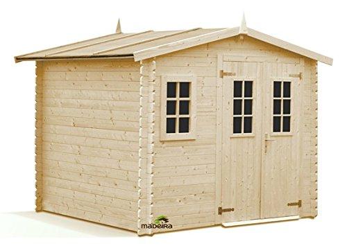 MADEIRA - Abri de jardin en bois Luby 6,6m2 28mm MADEIRA