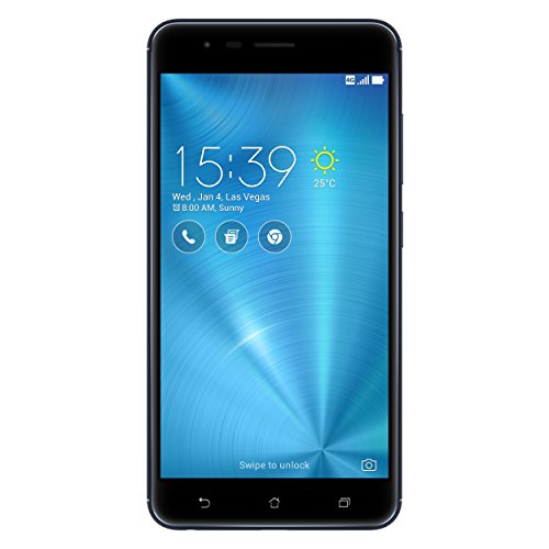 Asus ZenFone Zoom S ZE553KL Dual-SIM Smartphone (14 cm (5,5 Zoll) Full-HD Touch-Display, 64 GB Speicher, Android 6.0) schwarz (Navy Black) - Asus Android-handy