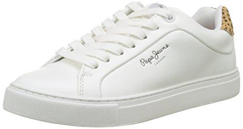 Pepe Jeans London Adams Junior, Zapatillas para Niñas, Blanco (White), 35 EU