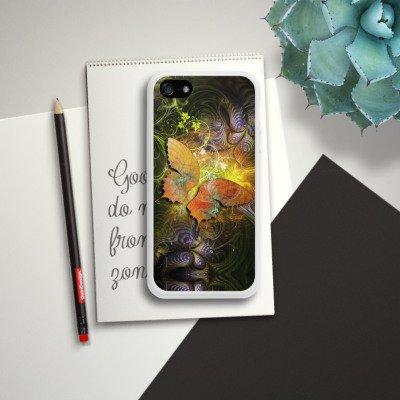 Apple iPhone 4 Housse Étui Silicone Coque Protection Papillons Automne Papillon Housse en silicone blanc