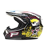 Qianliuk Helm Top ABS Motorradhelm Classic Bike Racing Helm Motocross Downhill Bike
