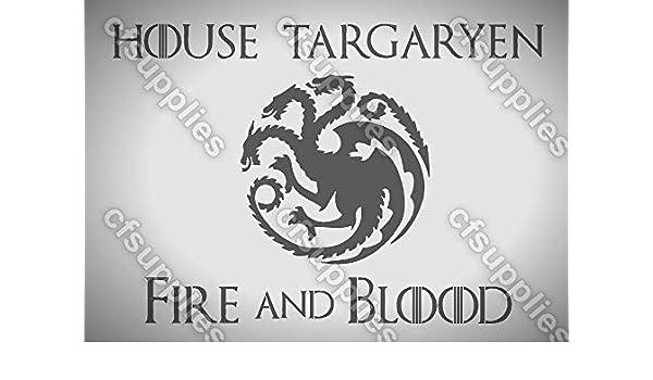 Game of Thrones TARGARYEN MYLAR AIRBRUSH STENCIL 125//190 micron A5//A4//A3