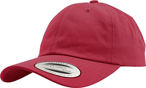 Flex fit Casquette de Baseball Yupoong - Profil Bas - Mixte pour Homme et Femme - 6 Panneaux - Non structurée - avec Fermeture en Laiton