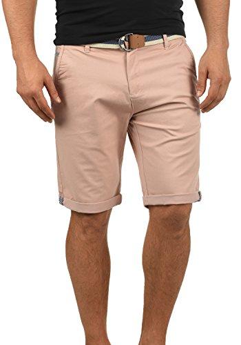 !Solid Monty Herren Chino Shorts Bermuda Kurze Hose Mit Gürtel Aus Stretch-Material Regular-Fit, Größe:M, Farbe:Mahog. Rose (4203)