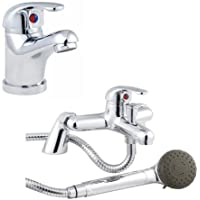 Trueshopping Bathroom Tap Set Single Lever Mono Basin Sink Mixer