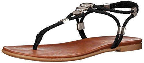 Madden Girl Flexii Flat Sandal Black