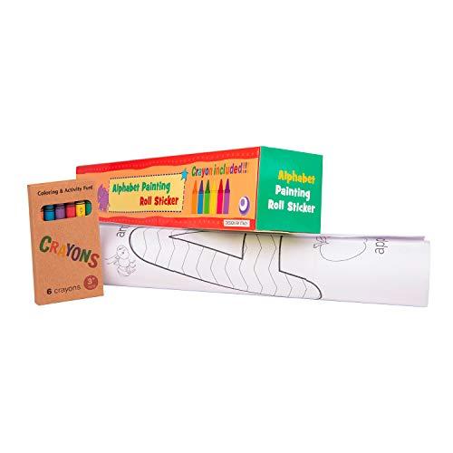 Rollo de papel adhesivo con dibujos para pintar. Papel continuo para niños...