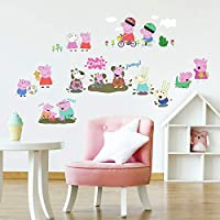 ‏‪RoomMates RMK3183SCS Peppa The Pig Peel And Stick Wall Decals, Multi color‬‏