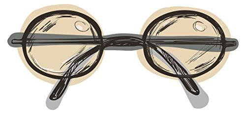 Wandtattoo Fashion Hipster Brille Mode Wandsticker Dekoration Trend Aufkleber