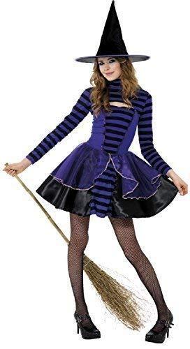 Fancy Me Teen &Ältere Mädchen Lila Black Witch Dunkel Fee Halloween Horror Unheimlich Kostüm Kleid Outfit 12 Jahre + (Fee Kostüm Teen)