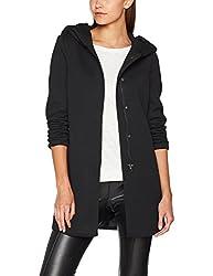 ONLY Damen Mantel 15142911, Schwarz (Black Black), 44 (Herstellergröße: XXL)