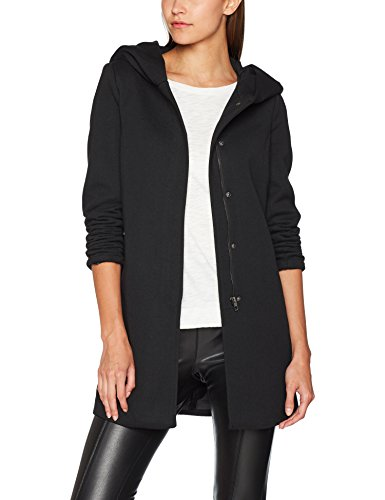 ONLY NOS Damen onlSEDONA Light Coat OTW NOOS Mantel, Schwarz Black, 40 (Herstellergröße: L) - Damen Pullover Mantel