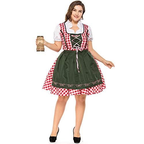 XUDSJ Halloween,Lack Kleid,hexenkostüm, Halloween Party Kostüme Damen Plaid Plus Größe Sexy Kleid Party Show Queen Langes Kleid for Frauen (Color : A, Size : (Pirat Für Erwachsene Kostüm Plus)