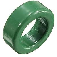 Lovinn Ferrite Core Hibro - 2 núcleos de ferrita, redondos, verdes, 22 x 14 x 8 mm