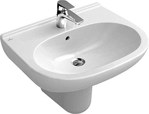 Villeroy & Boch O.NOVO Waschtisch 600 x 490 mm mit Überlauf weiß