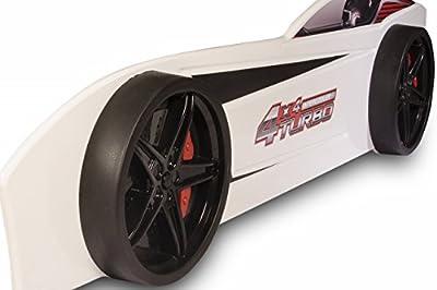 Infantil para coche cama gt18Turbo 4x 4en diferentes colores 90x 190cm con iluminación LED