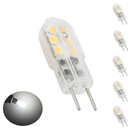 Bonlux 5-Packs 3W 12V G6.35 luz LED blanco fresco 6000K Bi-Pin JC Tipo 20W halógena equivalente T3 / T4 / T5 Bombilla LED G6.35 / Base GY6.35 de Iluminación debajo de los armarios Accent Puck luz de lámpara de escritorio