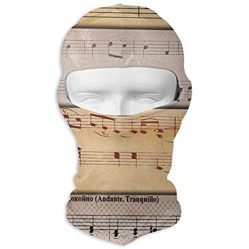 Vidmkeo Balaclava Music Papers Old Paper Full Face Masks Ski Mask Motorcycle Hood for Cycling Sports Snowboard New15