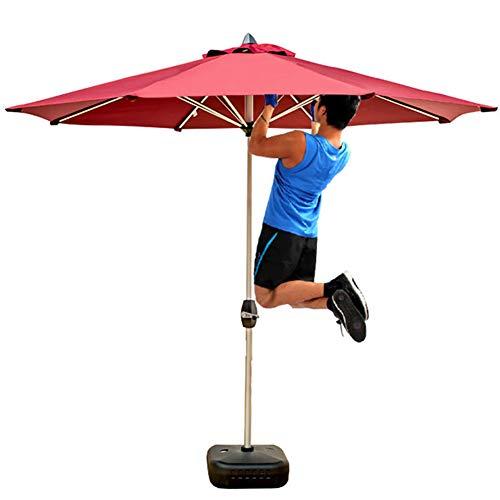 Rechteckiger Sonnenschirm Tisch (ZDYLM-Y Sonnenschirm Marktschirm, 2.7m Außenterrasse Tisch Regenschirm Hinterhof Garten mit 8 Stabilen Rippen, Crank Neigungsverstellung, für Terrasse, Garten, Deck)