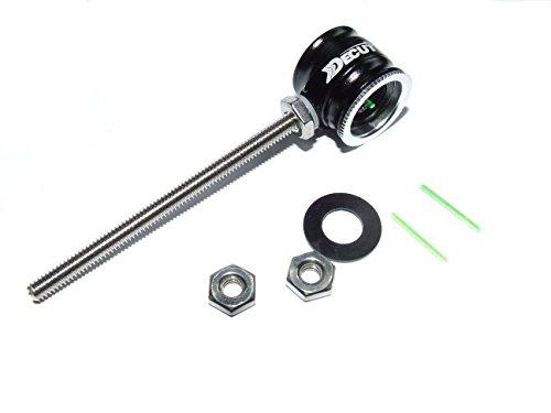 New Decut Archery TAWANT Recurvebogen Sight Pin, Ersatz Pins inbegriffen. Rechte oder linke Hand (schwarz)
