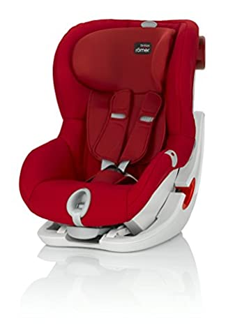 britax-romer 2000022569King II LS Autositz, rot (Flame Red)