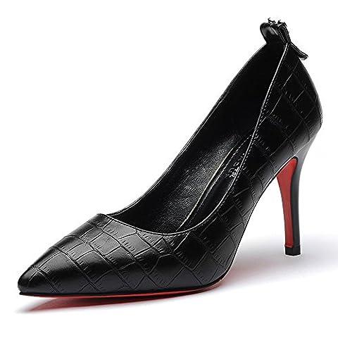 LAIKAJINDUN , Damen Elegant , Schwarz - schwarz - Größe: 220 mm Damen