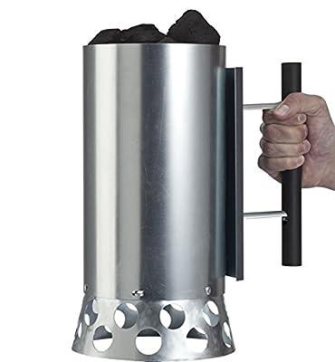 PADAMO Kohlenbehälter, Quick Can, silber, 19 x 29 x 31 cm, Q-C-1