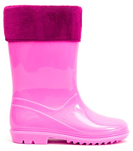 MOFEVER Toddler Kids Wellies Solid Color with Buckle