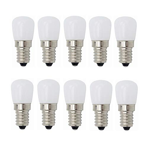 GHC LED Lampen, LED-Birnenlicht, 3W E14-Sockel 110V 120V 10er-Pack [Energieklasse A ++] 10St (Farbe : Kühles Whtie) -