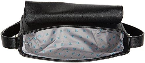 Trussardi Jeans 75b00196-1y090122, Borsa a Tracolla Donna, 31 x 19 x 7 cm (W x H x L) Nero
