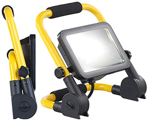 Luminea Baustellenleuchte: Klappbarer Profi-LED-Baustrahler mit 1.800 Lumen und 20 Watt, IP64 (Baulampe)