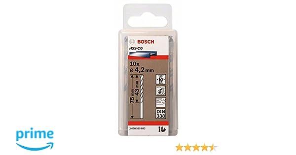 5 St/ück, /Ø 12,4 mm Bosch Professional Metallbohrer HSS-G geschliffen