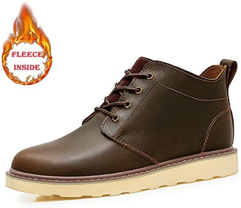 Jiuyue-scarpe, Stivale da Lavoro alla Caviglia Classico Casual alla Moda da Uomo Punta rossoonda Invernale Faux Fleece... | Il materiale di altissima qualità  | Scolaro/Signora Scarpa