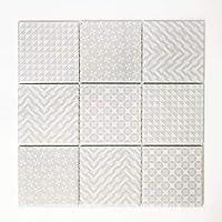 mosaico azulejos Espejo para baldosas mosaico baño o cocina Salón cerámica cuadrado gris 5mm # 364
